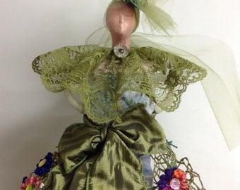 Mixed Media Doll Altered Art Doll Art Doll Assemblege Art Doll Bookcase Art