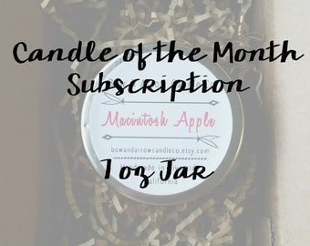 Candle of the Month | Soy Candle Subscription Box | 7 oz Candle | Gift Idea | Soy Candles