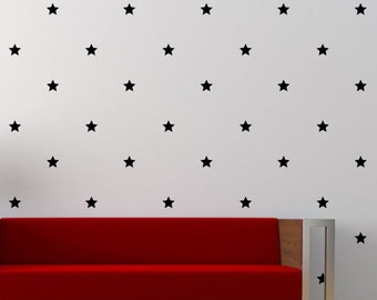 6 cm Star Decal Sticker set for nursery boy girl room bedroom wall art decoration - REMOVABLE 1027