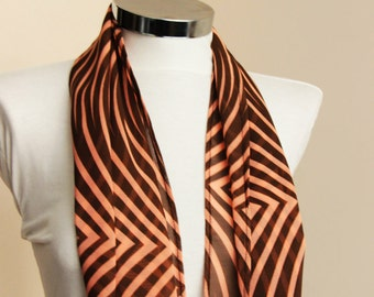 Spring Summer Fashion infinity scarf: orange black zebra Scarf  shawl orange black wrap spring summer fashion gift for her spring scarves