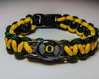 "OREGON ""DUCKS"" FOOTBALL paracord bracelet"