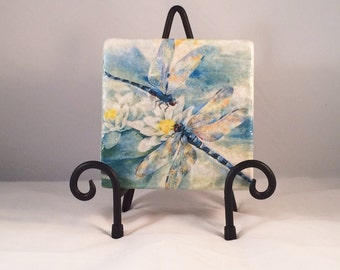 Dragonflies Coaster Set (Set includes 4 Tiles )