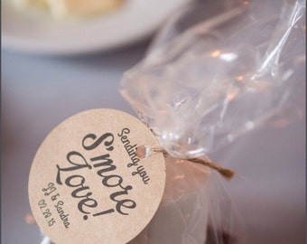 S'more Wedding Favor, Wedding Favors, S'more Favor Tags, Wedding Favor Tags