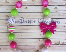 Chunky Bubblegum Bead Necklace