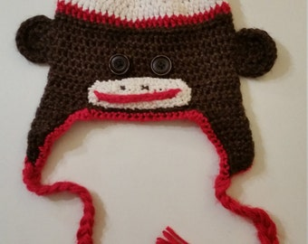 Classic Sock Monkey Winter Hat