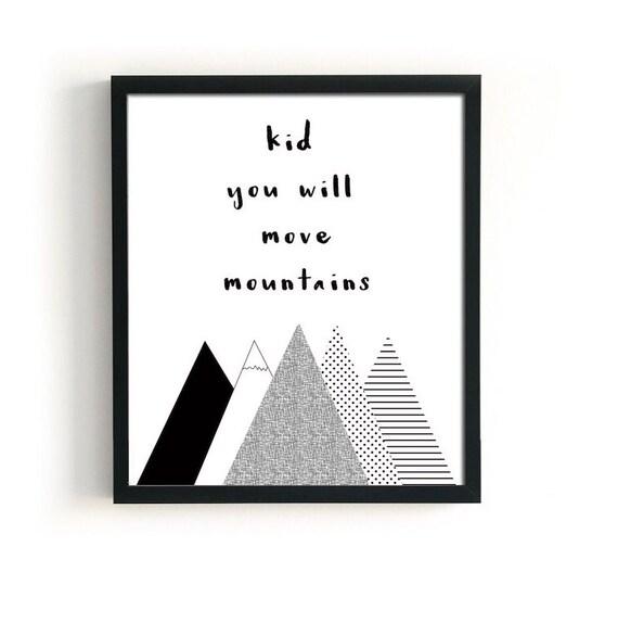 Dr Seuss Kid You Ll Move Mountains: Dr Seuss Print Kid You Will Move Mountains Nursery Printable