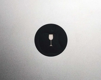 Wine Glass Macbook Decal / Macbook Pro Sticker