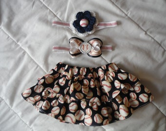Girls Baseball outfit - Ruffle Skirt - Girls Baseball dress - girls ruffle outfit - baseball skirt - baseball outfit - baseball sister