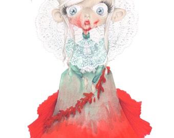 pop surrealism halloween movie Bram Stoker Dracula art print