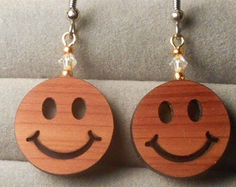 Smiley Laser Cut Earrings