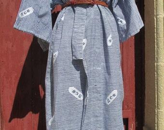 Vintage Cotton Blue Kimono