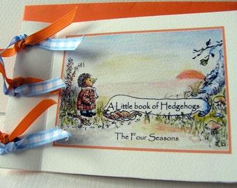A Little Book of Hedgehogs. Unique handmade book/card.