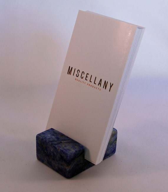 Vertical Business Card Holder Blue Bahia by Miscellany line