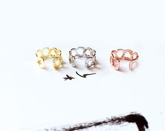 Gold Ear Clip 925 Silver Earring Hollow pattern Moon Star Heart Snow Flake Ear Clip Earring Cute Ideal Gift Ear Clip Simple Earring
