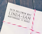 Return Address Stamp, Self Inking Address Stamp, Custom Address Stamp, Engraved Address Stamp, Housewarming Gift, A116