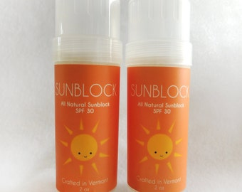 All Natural Sunblock SPF 30