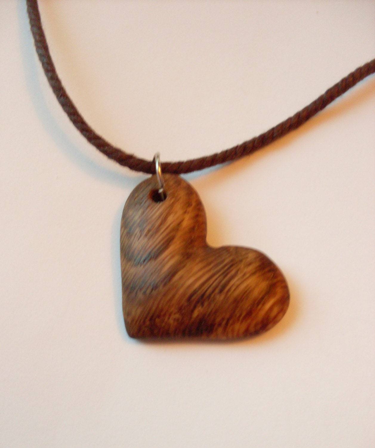 Wooden heart necklace wood heart pendant for How to make a wooden pendant