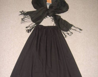 Girls victorian, edwardian, oliver twist, costume, outfit, mop cap, shawl and skirt