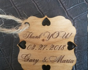 Wood wedding tag (75) / wedding favour tag / wedding favor / gift tag / wood tag