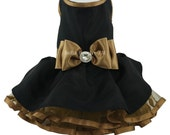 Black & Gold Couture Party Dress for Dogs by Bella Poochy TM