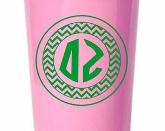 Delta Zeta Monogrammed Giant Plastic Cup