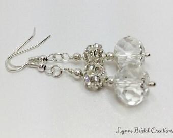 Crystal Bridal Earrings Bridesmaid Jewelry Droplet Earrings Crystal Jewelry Bridal Jewelry Bridesmaid Gift Beaded Jewelry Wedding Earrings
