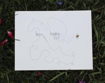 Bee Happy Print