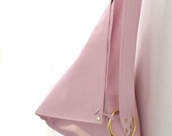 Trism Pastel Pink Shoulder Bag - 100% leather