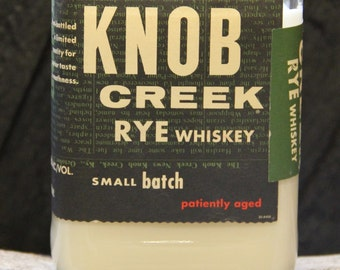 Upcycled Knob Creek Rye Whiskey Candle - Recycled Bourbon Bottle Candle Handmade Soy Candle 750ml Recycled Glass Bottle 18oz Soy Wax