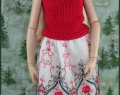 Red, Black, and White Outfit for Ellowyne