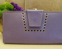 1960's Wallet / Amity Cowhide / Violet
