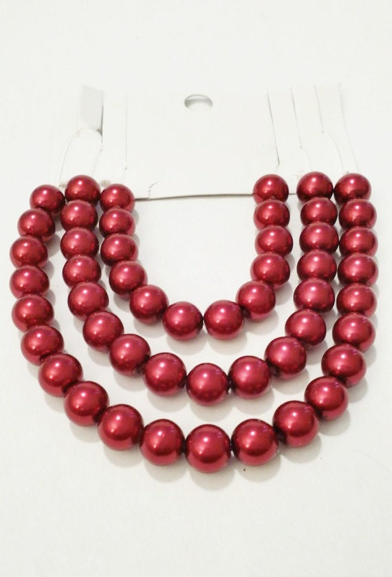 pearl beads bulk dark red pearls beads for by. Black Bedroom Furniture Sets. Home Design Ideas