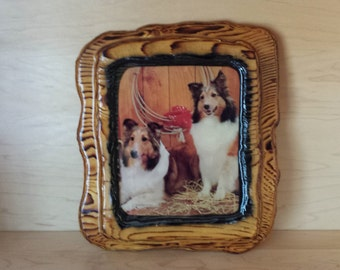Collie Wooden Art