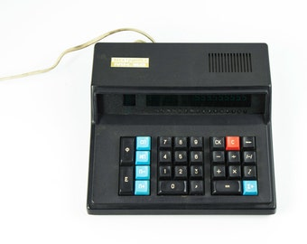 Soviet calculator Electronica MK59 - 1980s - from Russia / Soviet Union / USSR- White- Turquoise