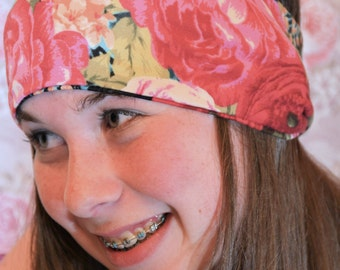 Rose Floral Thick  Headband