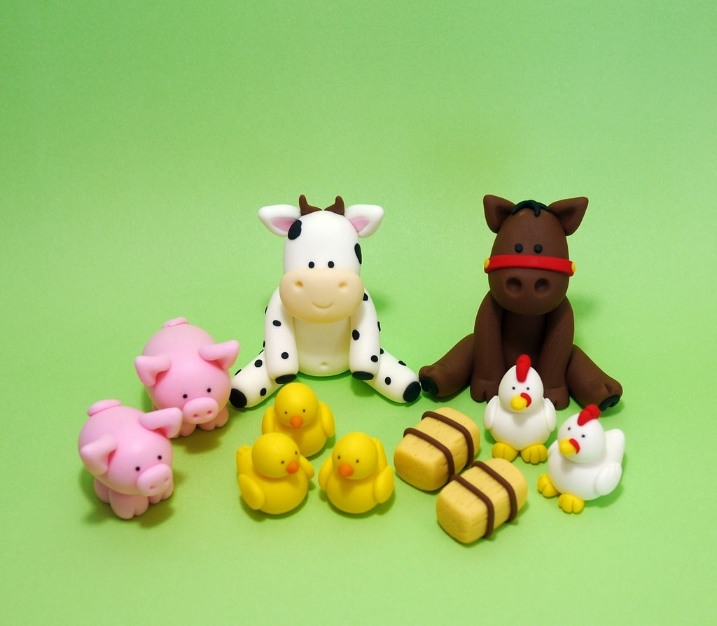 fondant farm animals