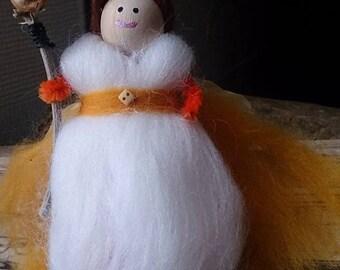 Sunny Woodland Faerie - wool felt fairy