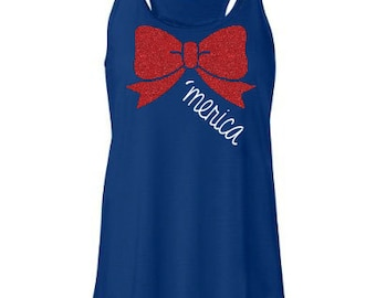 Glitter Merica 4th of July Tank sizes S-3XL