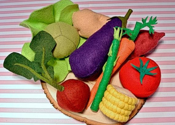 Felt Food Toys R Us : Felt vegetable set c food toy foodplay