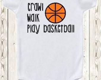 Basketball ONESIE ® brand bodysuit or shirt / crawl walk play basketball / sports / new baby gift or baby shower gift for boy or girl /