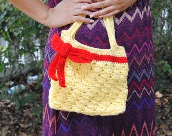 Girl's purse. Girl's gift. Crochet purse. Girl's handbag. Choose your color.