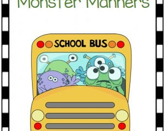 Monster Manners File Folder Game