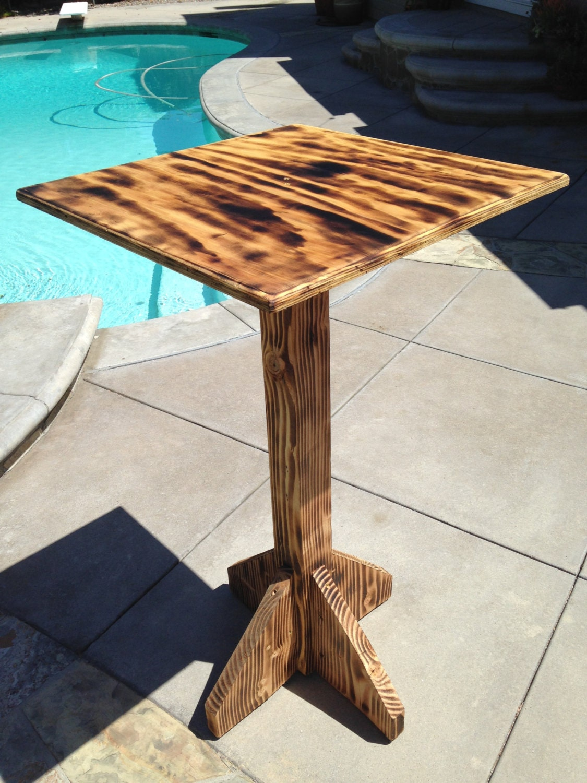 high top outdoor bar table in burnt pine by bagodonutsbargoods. Black Bedroom Furniture Sets. Home Design Ideas