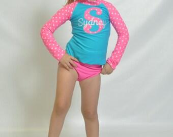 Girls Initial Swim Shirt