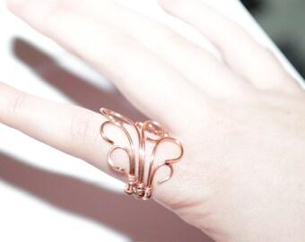 Copper swirl wire ring (Non-Tarnish)