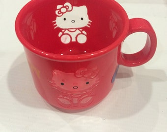 Vintage Hello Kitty cup 1991 Sanrio made in Japan