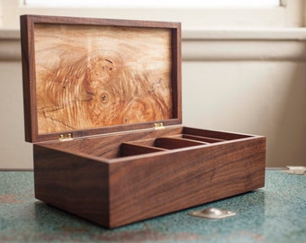 Handmade Walnut & Maple Jewelry Box