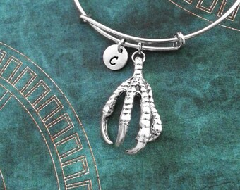 Claw Bangle Bracelet Claw Bracelet Dragon Talon Bracelet Eagle Gift Fantasy Jewelry Stackable Bangle Adjustable Bangle Personalized Bangle