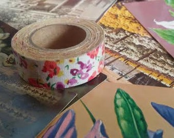 Soft white bright floral ribbon tape