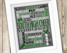 Cheer Camp Gift ~ Squad Coach Subway Art Personalized Custom Printable ~ Digital Image JPEG File ~ Cheerleading Cheerleader High School Team